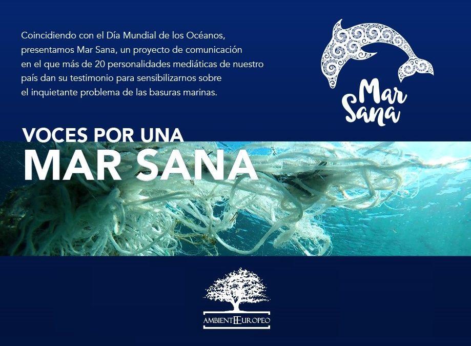 La ASOCIACIÓN AMBIENTE EUROPEO lanza el proyecto MARSANA en el día mundial de los océanos.