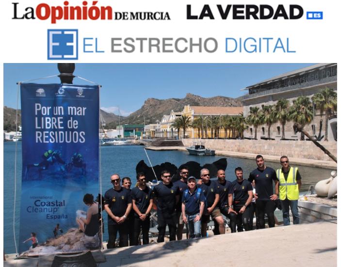 La ASOCIACIÓN AMBIENTE EUROPEO participa en la limpieza de fondos del puerto de Cartagena