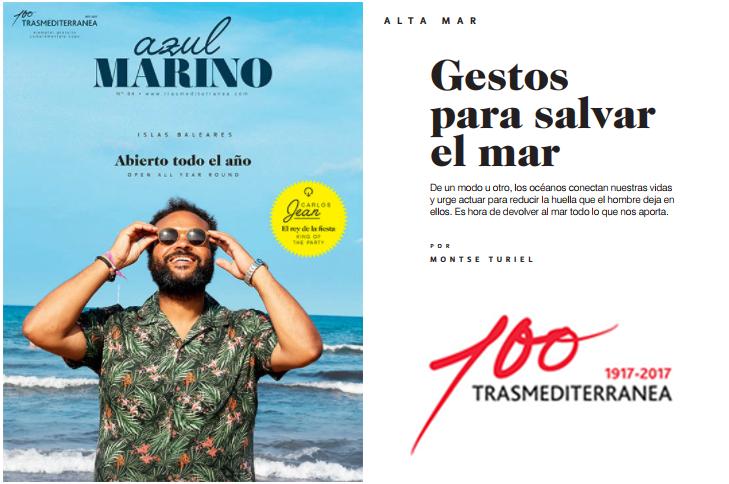 La ASOCIACIÓN AMBIENTE EUROPEO en la Revista Azul Marino de TRASMEDITERRÁNEA.