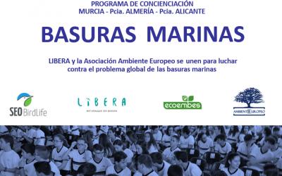 La ASOCIACIÓN AMBIENTE EUROPEO y el proyecto LIBERA firman un acuerdo de colaboración para sensibilizar sobre el problema de las basuras marinas.