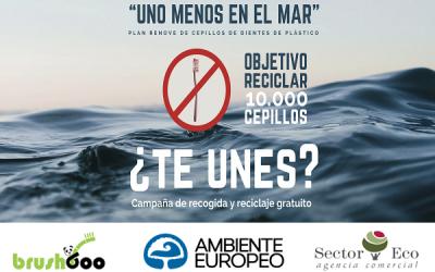 """Campaña """"UNO MENOS EN EL MAR"""" con BRUSHBOO, SECTOR ECO y AMBIENTE EUROPEO"""