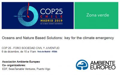 AMBIENTE EUROPEO participa en la COP25