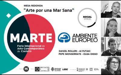 """AMBIENTE EUROPEO coordina """"MAR DE ARTE"""" en la Feria Internacional de Arte Contemporáneo de Castellón."""